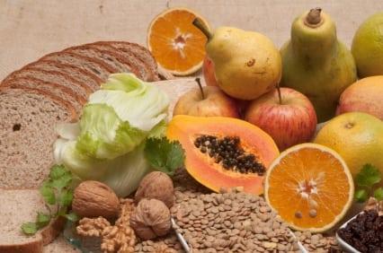 Alimentos con fibra alimentaria