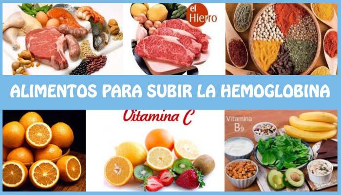 alimentos para subir la hemoglobina