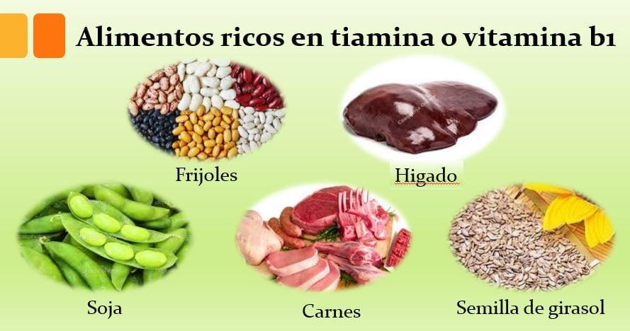 alimentos ricos en tiamina
