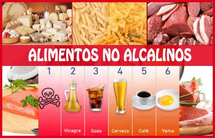Alimentos no alcalinos