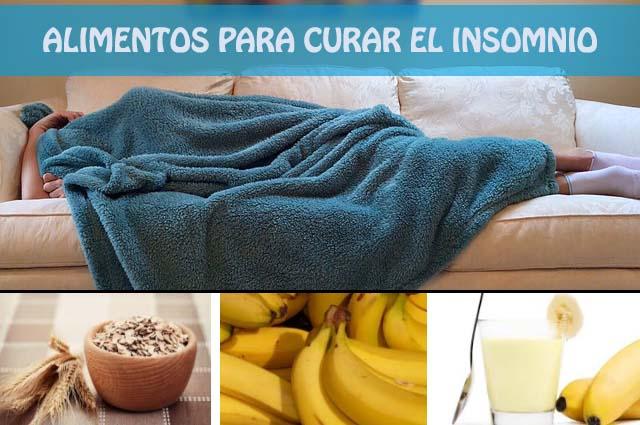 alimentos para curar el insomnio