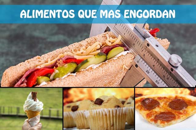 alimentos que mas engordan