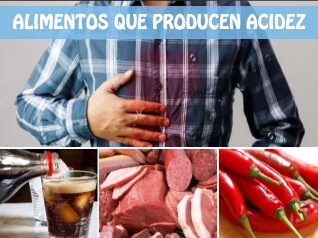 Alimentos que producen acidez