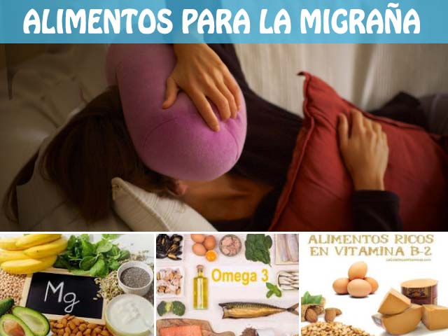 alimentos para la migraña