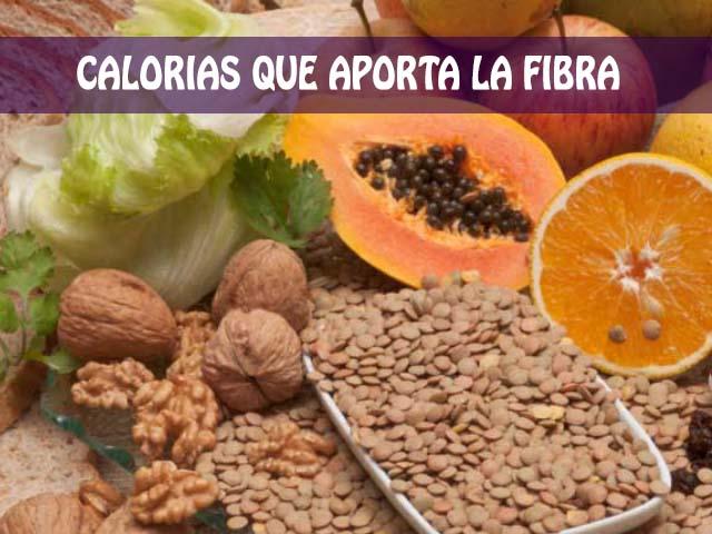 Calorías que aporta la fibra y cual es su relación con los carbohidratos