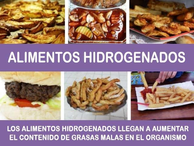 alimentos hidrogenados