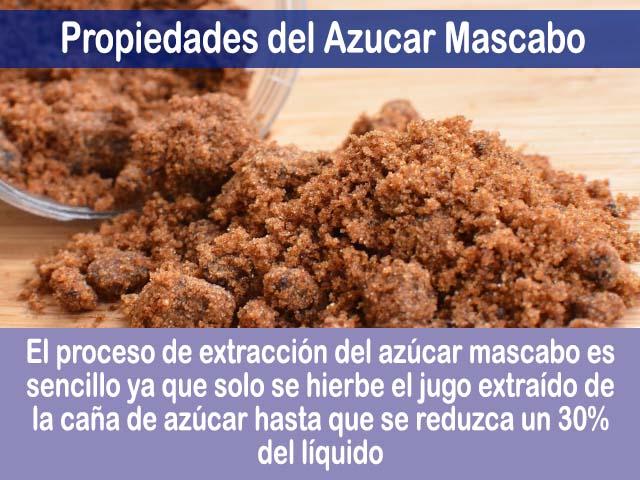 propiedades del azucar mascabo