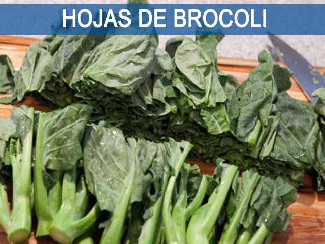 hojas de brocoli