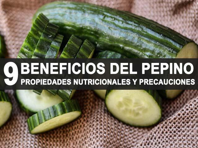 propiedades y beneficios del pepino