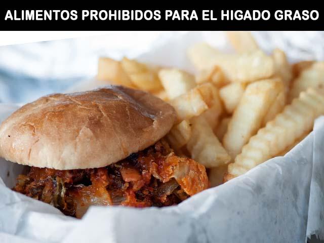 alimentos prohibidos para el higado graso