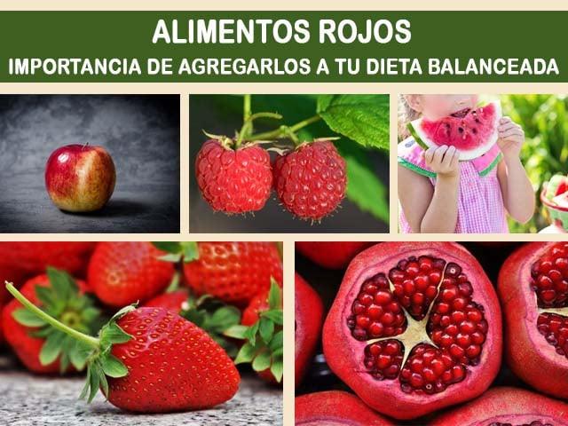 Alimentos rojos y sus beneficios como parte de una dieta saludable