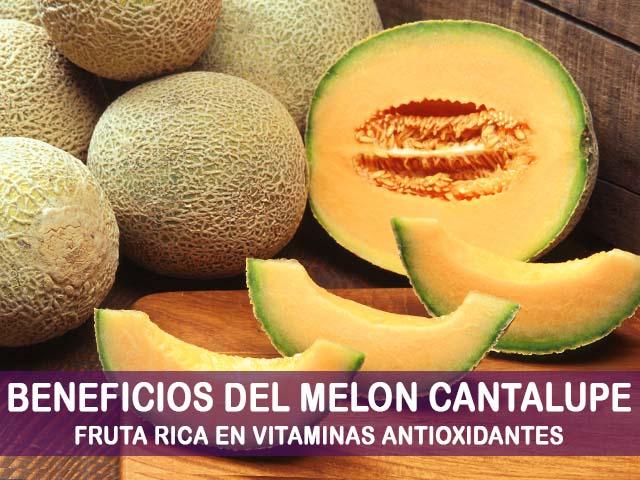 beneficios del melon cantalupo
