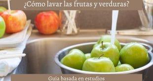 Guía para lavar las frutas y verduras