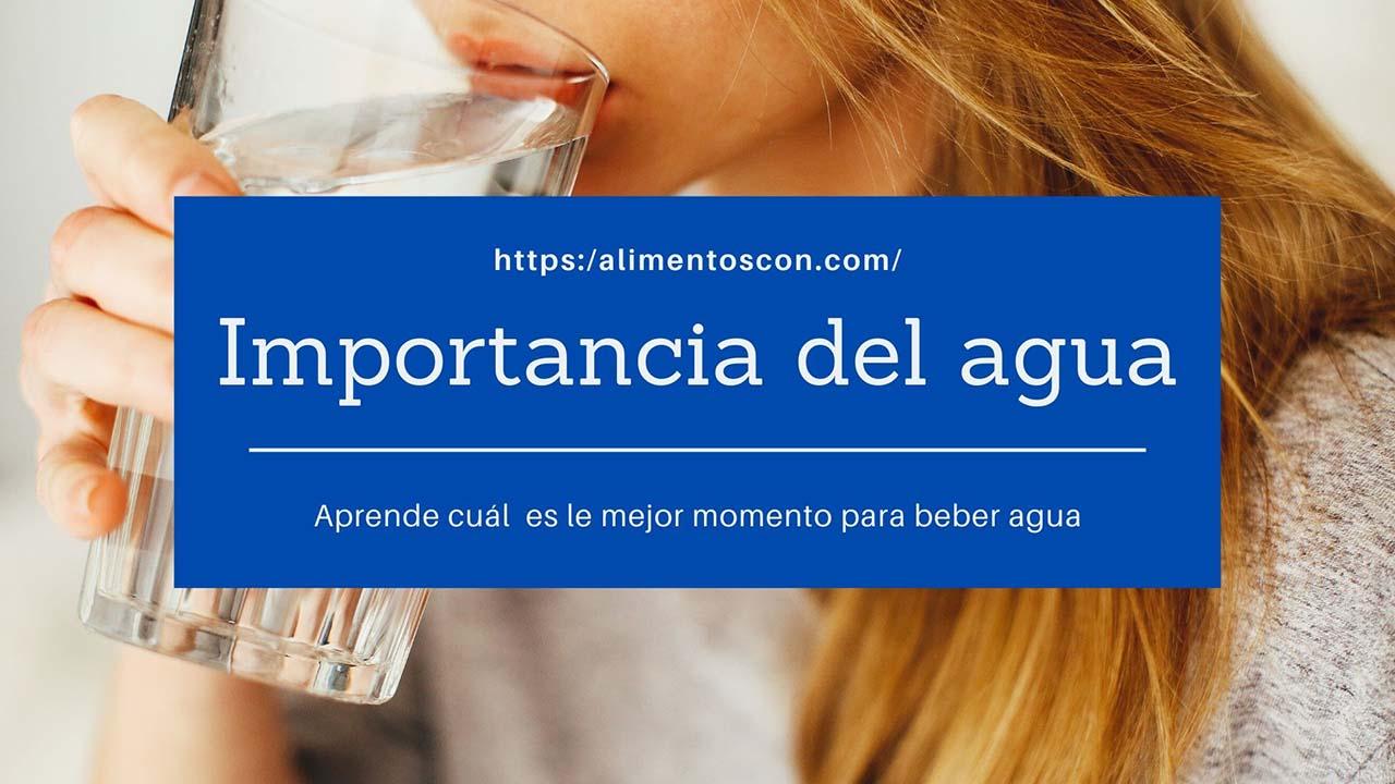 Importancia y como beber agua