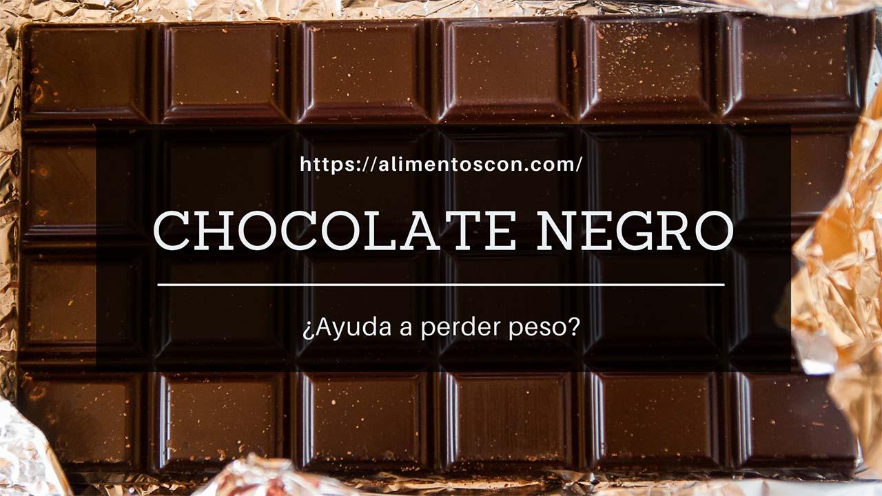 El chocolate negro posiblemente ayuda a bajar de peso